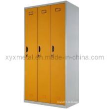 Meuble en acier à pièce Double couleur 3 portes Mini armoire