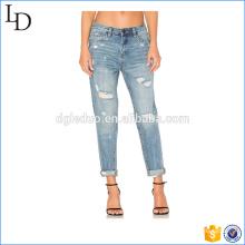 Cintura alta moda 2017 denm jeans fábrica atacado denim jeans
