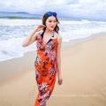 Merveilleux élégant bali sarong couvrir mousseline de soie foulard coloré plage paréo