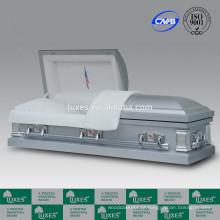 LUXES estilo americano Metal caixões para venda