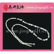 Guangzhou moda jóias cristal frisado óculos cabo