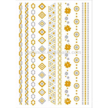 Factory Price Metallic Foil Gold Silver Temporary Tattoo Sticker