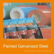 Bobinas de galvalume, de pre-pintado de acero del galvalume