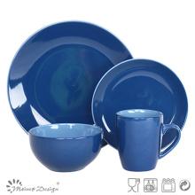 Ensemble de dîner en grès cérame Royal Blue 16PCS