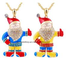 Jóias de natal / natal colar / pai natal (xjw13345)