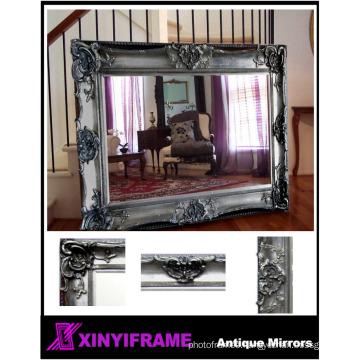 wash basin mirror bathroom wood framed classic mirror