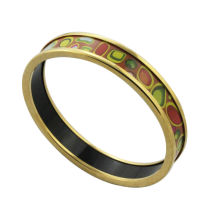 2014 cheap wholesale fashion gold plating enamel bangles with colorful ball, ethnic bangles