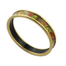 2014 braceletes do esmalte do chapeamento do ouro da forma por atacado barato com esfera colorida, pulseiras étnicas