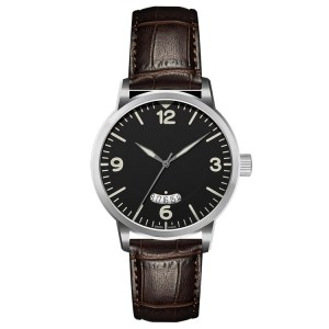 Zegarki męskie z Cool Brown Genuine Leather