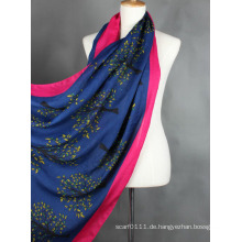 Lady Fashion Baum gedruckt Viskose Seidenschal (YKY1023-3)