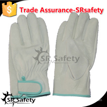 SRSAFETY 2016 building work safety leather white gloves cow leatehr working gloves
