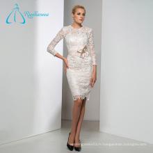 Manteau à manches longues blanches de robes de mariée Robes