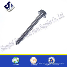 China manufacturer carbon steel zinc plated flange wood screw