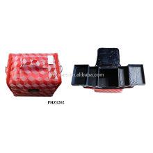 venda quente & bolsa de maquiagem à prova d'água com 4 bandejas removíveis dentro fabricante