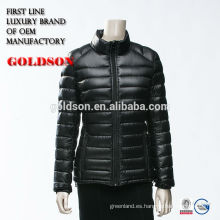 Nuevo peso ligero de la llegada abajo de la chaqueta ODM China Shaoxing Goldson manufactory