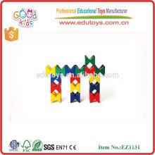 Jardín de infancia Jugar Juguetes Creatividad infantil Conjunto de madera de construcción de colores