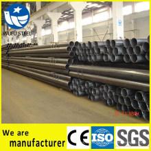 Suministro redondo cuadrado rectangular SS400 tubo de acero