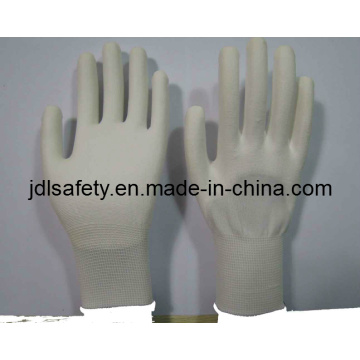 Nylon Work Glove with Knuckle Dipped PU (PN8110)