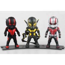 Lovery personalizado mini-figura de ação de PVC Doll Kids Ant-Man Brinquedos