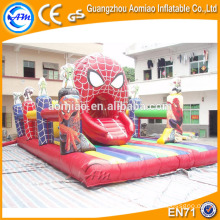 Spiderman inflable jump pad jumping mat jumper inflable