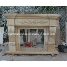 Natural Antique Marble Fireplace (SY-MF214)