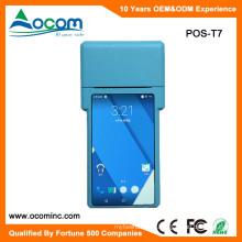 POS-T7 Handheld Android POS Terminal Machine con la impresora