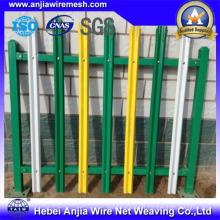 Clôture à palissade à clôture électro-galvanisée en PVC