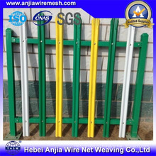 High Security PVC Coated Welded Metal Garden Palisade Fencing