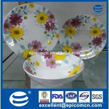 Decoración de flor llena vajilla popular ruso conjunto de vajilla de cerámica