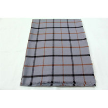 Classic plaid pattern  Pashmina scarf  fringe on four side super soft hand feeling