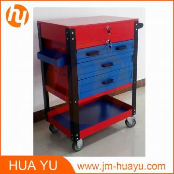 Profissional de 26 polegadas 6 gaveta Auto peças rolamento Gabinete Tool (azul e vermelho)