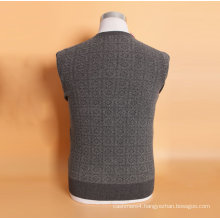 Yak Wool/Cashmere V Neck Pullover Long Sleeve Sweater/Clothes/Garment. Knitwear