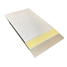 Folha de revestimento de parede de alumínio escovado de alta qualidade