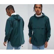 Men′s Green Pullover Waterproof Hoody