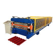 Top for IBR Double Deck Making Machine,Ibr Double Layer Roll Forming Machine,Ibr Panel Wall Double Deck Roll Forming Machine Manufacturers and Suppliers in China Galvanized Metal Trapezoid Double Deck Roll Forming Machine export to Sao Tome and Principe I