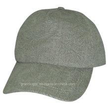 Señoras de impresión Cap de pico de poliéster con logotipo Debossed