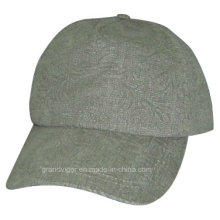 Ladies Printing Polyester Peak Cap with Debossed Logo