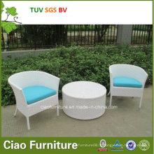 Синтетическая мебель ротанга дешевые Открытый плетеная стол и стул (4296)