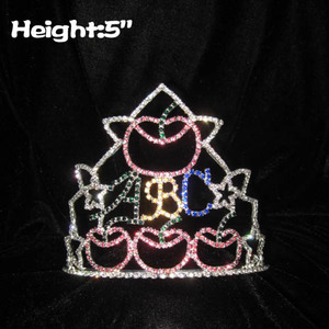 Back To School Pageant Crowns With Apple Shaped