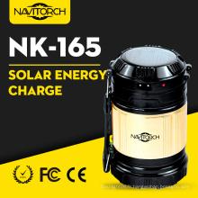 Lanterne de camping solaire de manière lumineuse de recharge double (NK-165)
