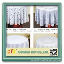 Mantel redondo del cordón de la boda / mantel redondo del cordón del PVC / mantel plástico
