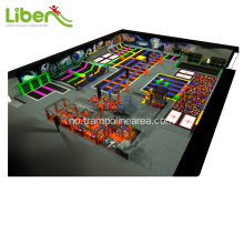 innendørs jumping fitness trampoline park for barn