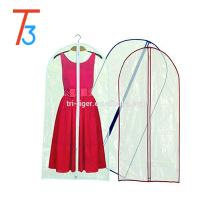 Saco de suspensão do PVC do armazenamento do terno do saco do armazenamento do vestido do vestuário de suspensão