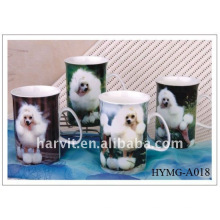 10oz Taza de café de cerámica de diseño perro para beber