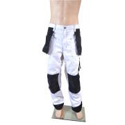 Polyester/Cotton White/Black Trousers