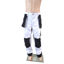 Polyester / Cotton White / Black Trousers