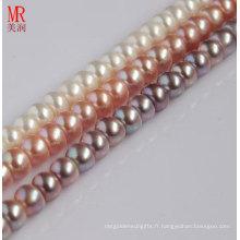 11-12mm Nature Perles d'eau douce Strands, Button Round