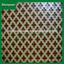 Shunyuan de alta qualidade chapa perfurada