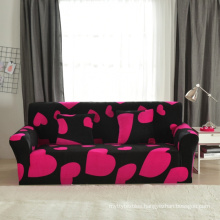 ready made I shaped printed 3 seater velevt sofa cover