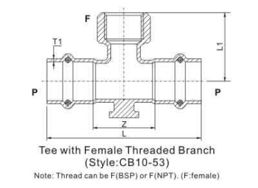tee with wall plate p